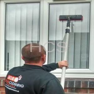 Water fed pure water window cleaning leeds